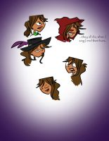 Courtney Doodles by CharcoalShadows