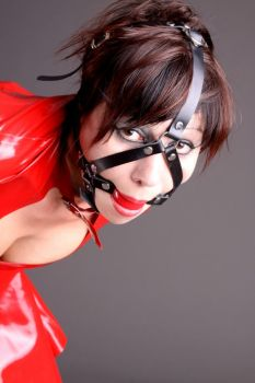 red harness gag by Latex-Master