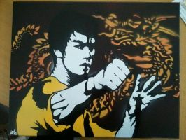 Bruce Lee 16x20 by neversummer160