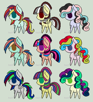 Cheap Pony Adopts|3 Points At Least by Doggirl2626