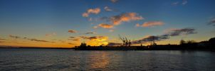 Panorama Sunset Kiel Lightshow by Bull04