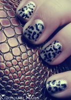 Leopard Glam Nails by KizunaniiNails