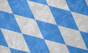 Kingdom of Bavaria ~ Grunge Flag (1878 - 1918) by Undevicesimus