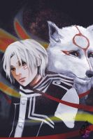 Allen and Okami by RainWakers