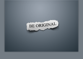 Be Original - Graphite by Sk8rDude7