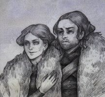 Eddard and Catelyn Stark by TemLin
