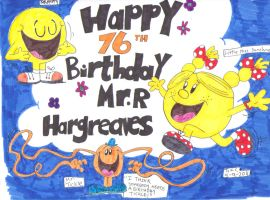 Roger hargreaves-Birthday card by spongefox