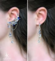 Taste of the sea ear cuff and earring by JuliaKotreJewelry