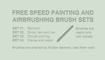 Free speed painting and airbrushing brushes sets by KuldarLeement