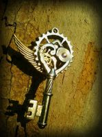 Industrial Wings Fantasy Key by ArtByStarlaMoore
