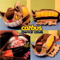 Catbus Pencil Holder by Butterscotch-Llama