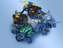 Air Skylander colored by BlazeMizu