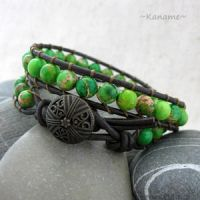 Beaded Wrap Bracelet by Kaname (not mine) by DragonFlyer139