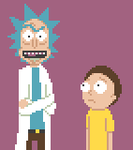 Rick and Morty Pixel Art. 100 Times Rick and Morty by Boonzeet