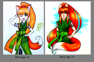 Fox Girl 2012 To 2015 by Gresta-GraceM
