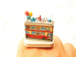 Happy Birthday Bus Ring by souzoucreations