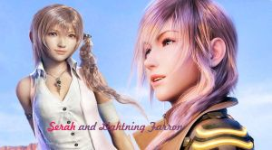 Serah and Lightning Farron wallpaper by Selenaru96