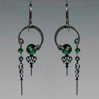 Eirene II Steampunk earrings- SOLD by YouniquelyChic
