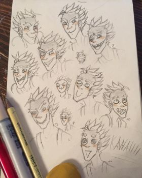 the manny smiles of Jamison Junkrat Fawkes by DrunkenFangschrecke