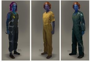 Guardians of the Galaxy - Kiln Prison outfits by Ubermonster
