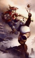 Pandaren + Kung fu panda by Morgan-chane