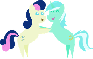 Pointy Ponies: Bon Bon and Lyra by PacificGreen