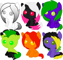 Baby Pony Adopts by Sarahs-Adopts