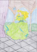 Princess Aurora - Green Redone by LaSerenity