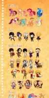 Japan EXPO 2012 - KEYCHAINS LIST by Rozenng
