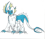 Tidal Abyss Absol by cheetah-mage