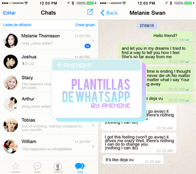 Plantillas de Whatsapp by myanemone
