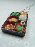 Bento Box Necklace by kawaiibuddies
