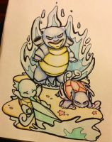 Squirtle evolution by razledazle