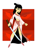 Samurai Jack - Rule 63 by TheMightFenek