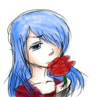 Speed Draw/Paint - Girl with a Rose by dark-silent