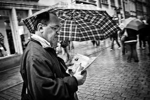 The man and his brochure by Jack070