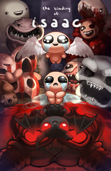 Binding of Isaac Rebirth Print by Shattered-Earth