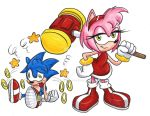 Sonic and Amy Rose by FrijolesGirl