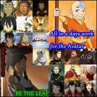 Korra meets Aang,All in a days work for the avatar by MakorraLove12