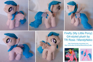 Firefly G1 My Little Pony plush by MandyNeko