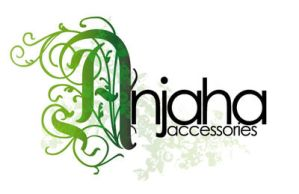 Anjaha accessories logo by dittokeg