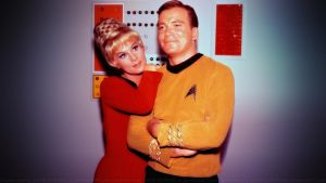 William Shatner + Grace Whitney - Kirk and Rand by Dave-Daring