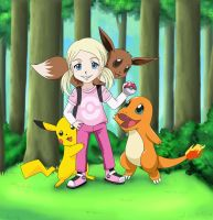 Pokemon Trainer Sarah by Shaami