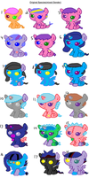 Leftover Breedable Babies- Original Species by Strawberry-T-Pony