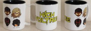 Chibi Heroes Mug by H-Voltage