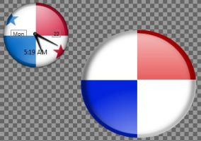 Panama flag inspired by Vista widget by jecw