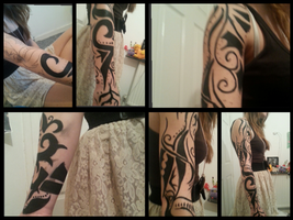 Djinn Tattoo WIP by JellyBeaniez