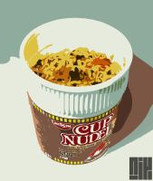 Nissin Cup Noodles by nicollearl