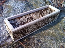Victorian Blossoms Pencil Box by parizadhe