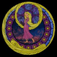 Rapunzel's Stained Glass Glow by Akili-Amethyst